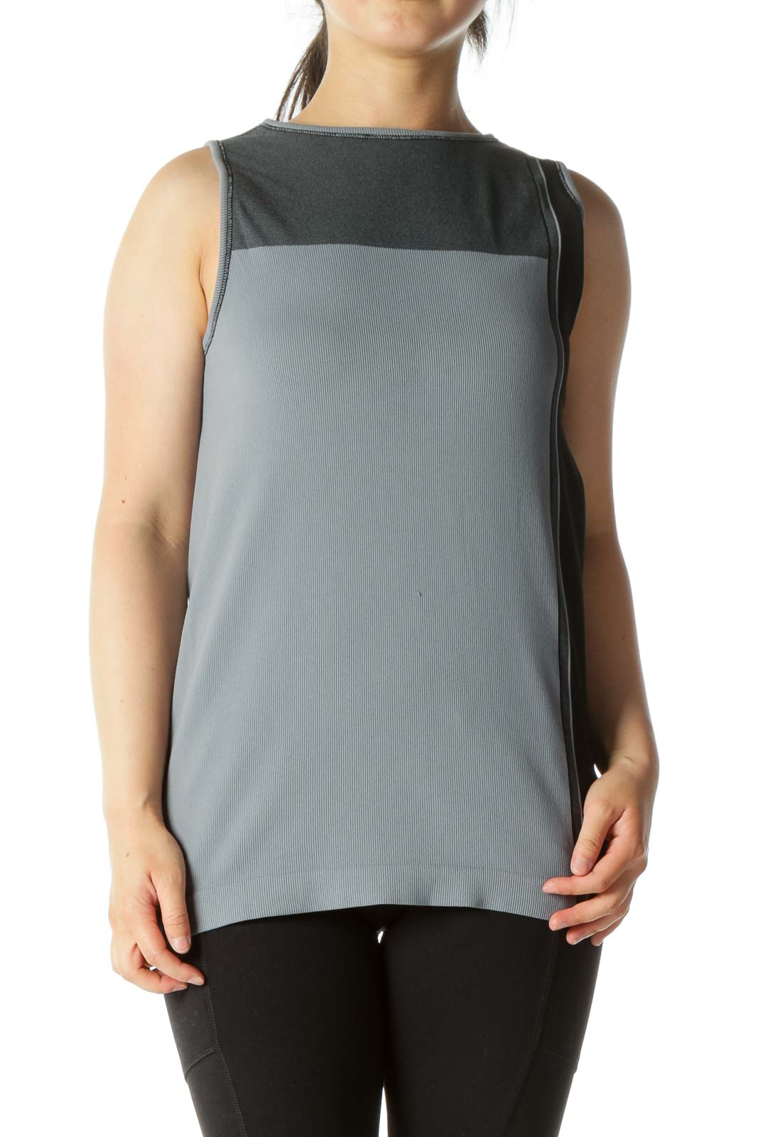 Gray Sports Top