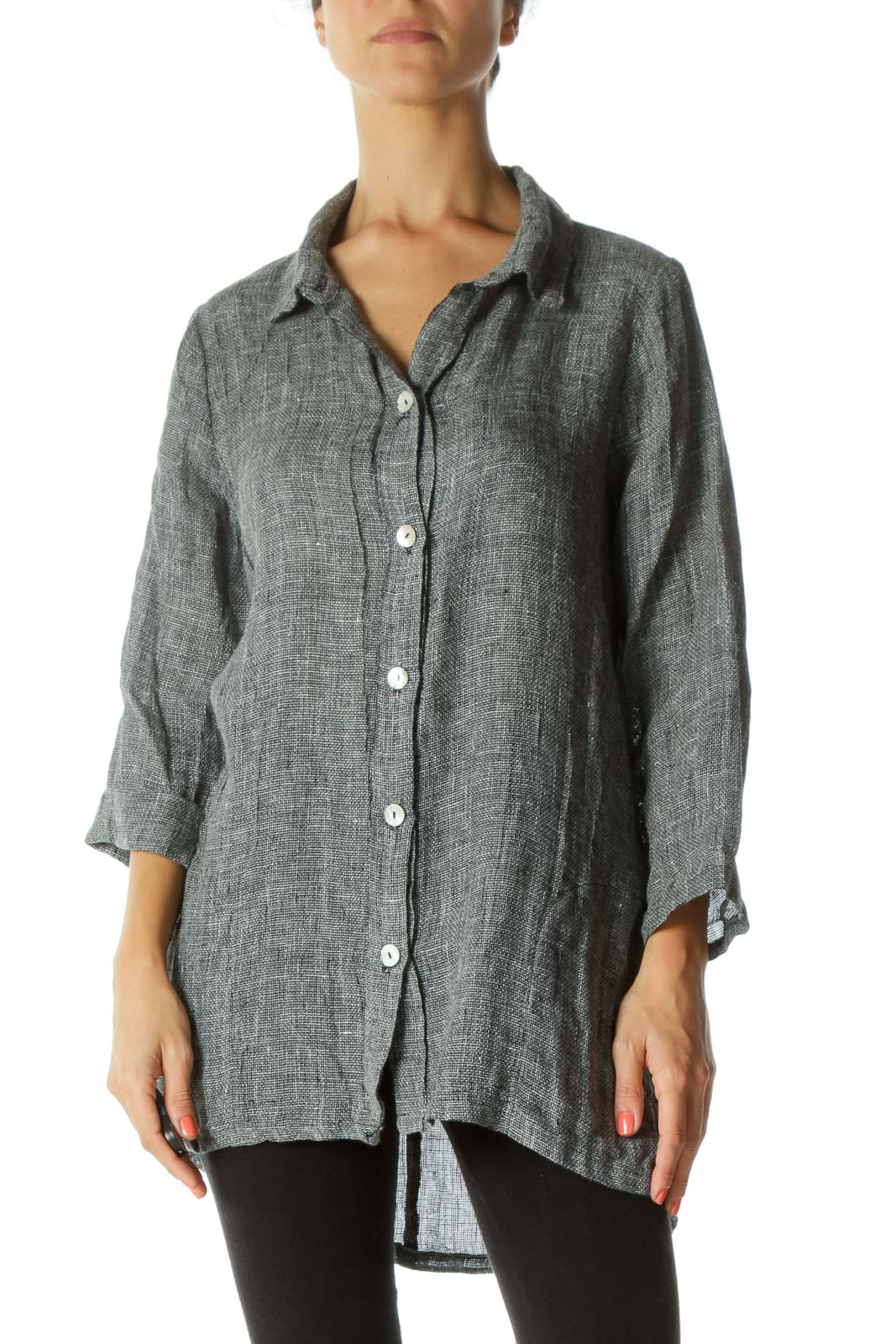 Gray Over Sized Knit Top