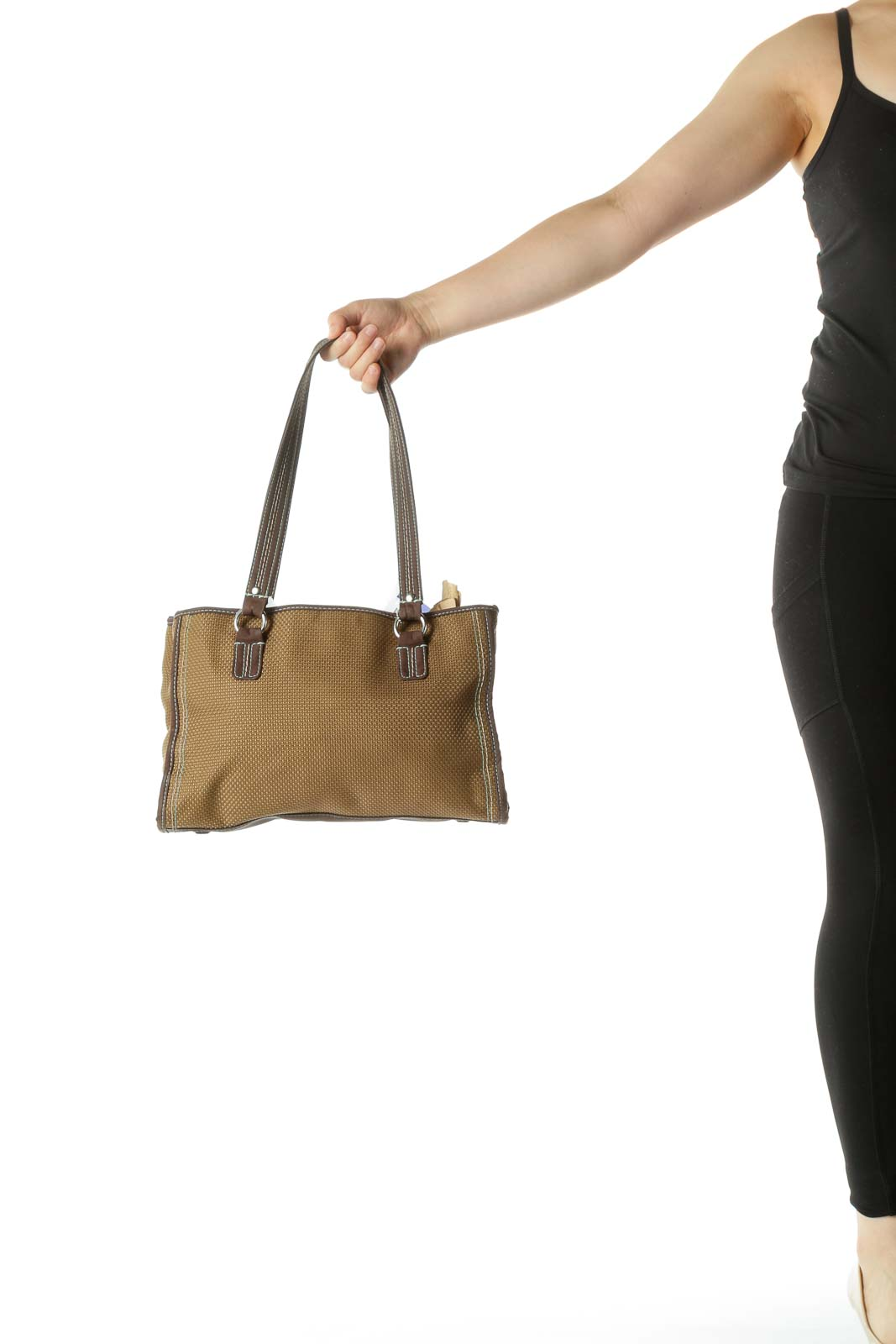Green Woven Shoulder Bag