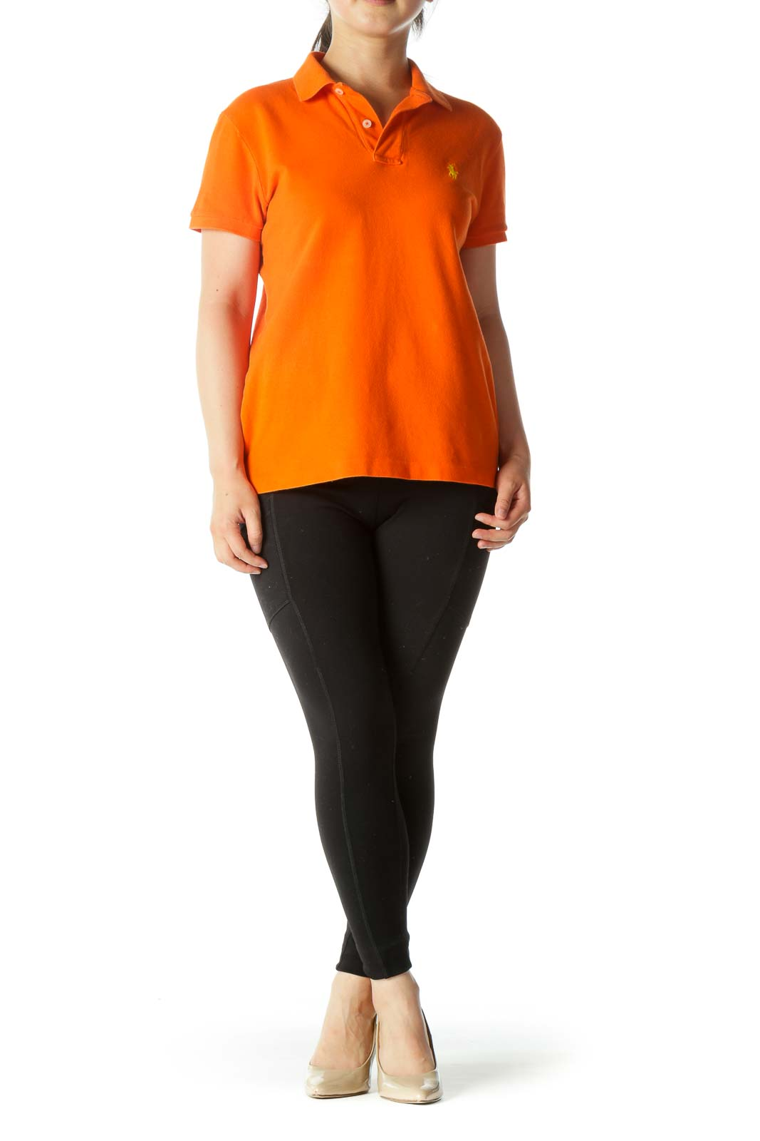 Orange Petitie Polo Shirt