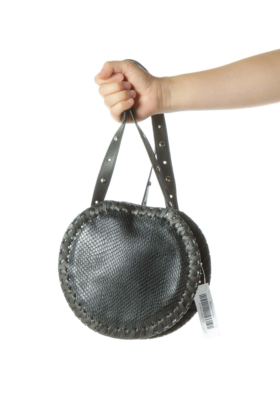 Black Textured Crossbody Bag