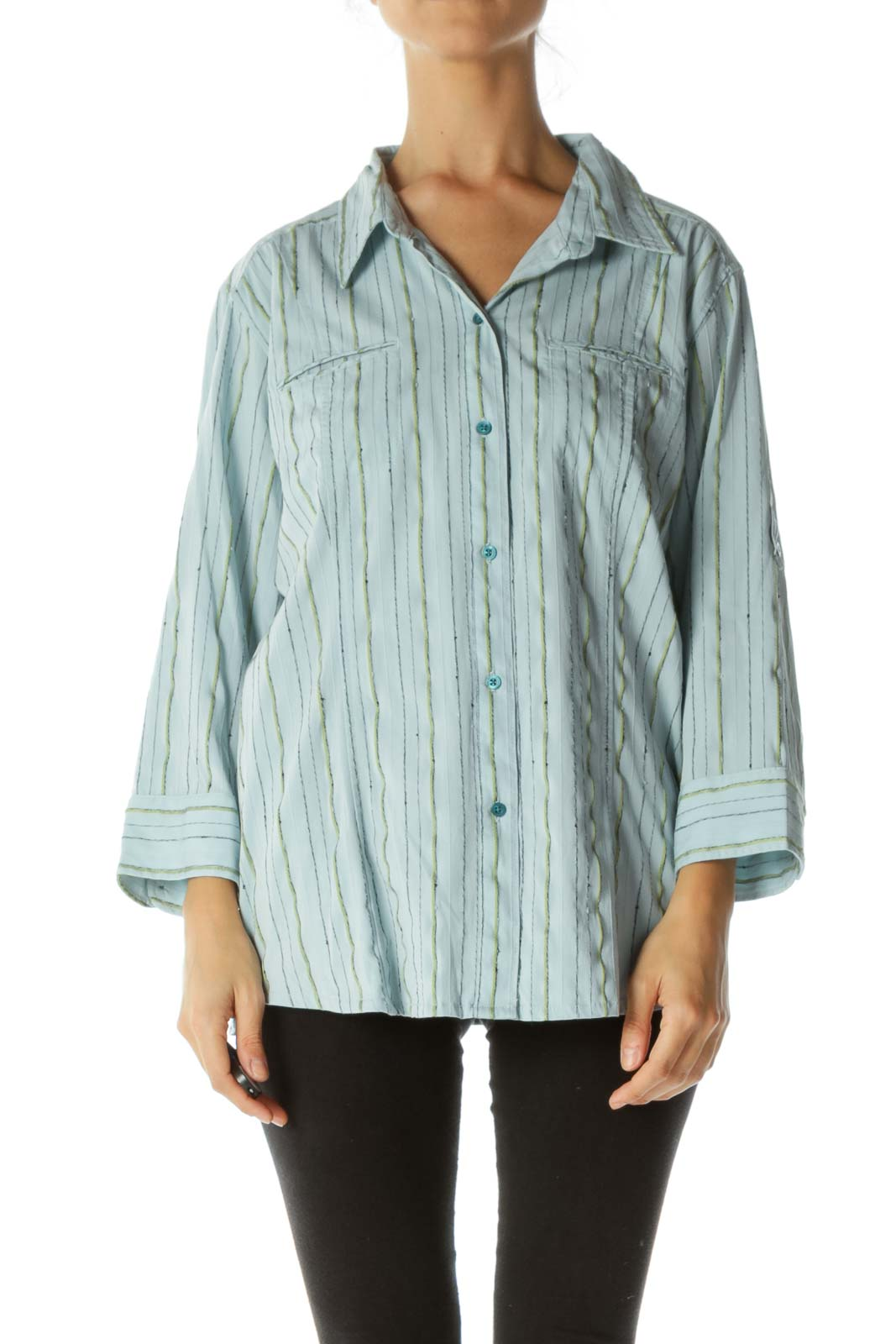 Blue Striped Collard Shirt