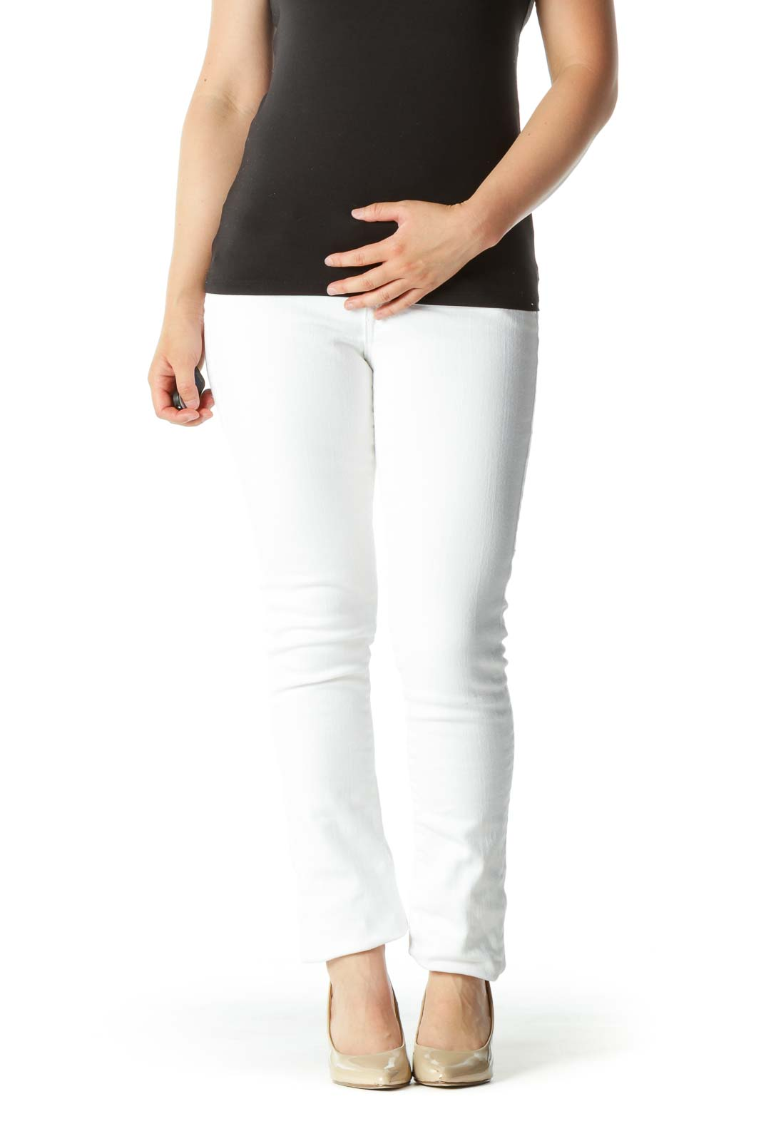 Bright White Denim Skinny Pants