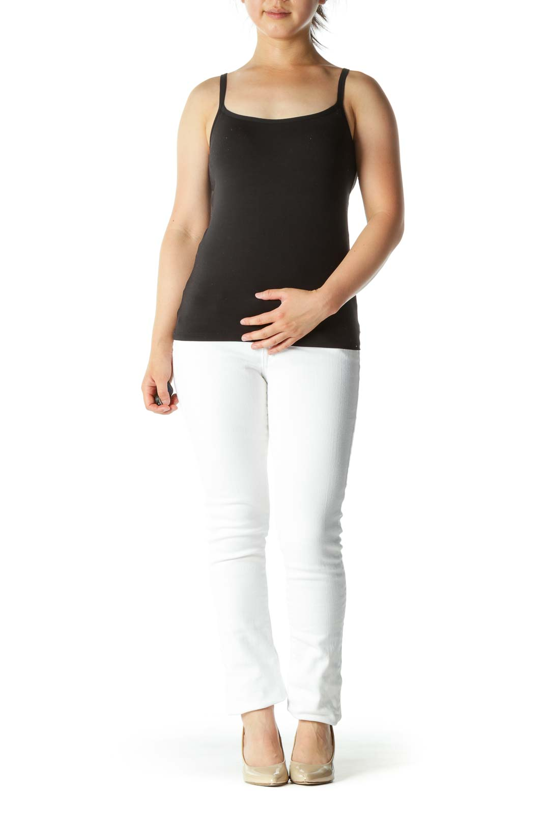 Bright White Denim Skinny Pants