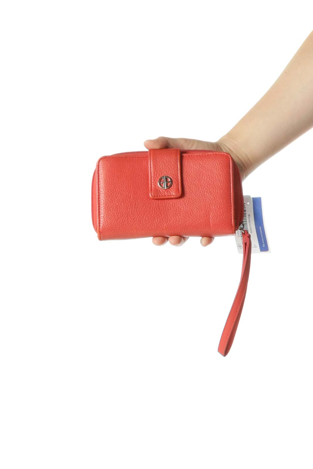 Orange Wristlet with Inner Wallet