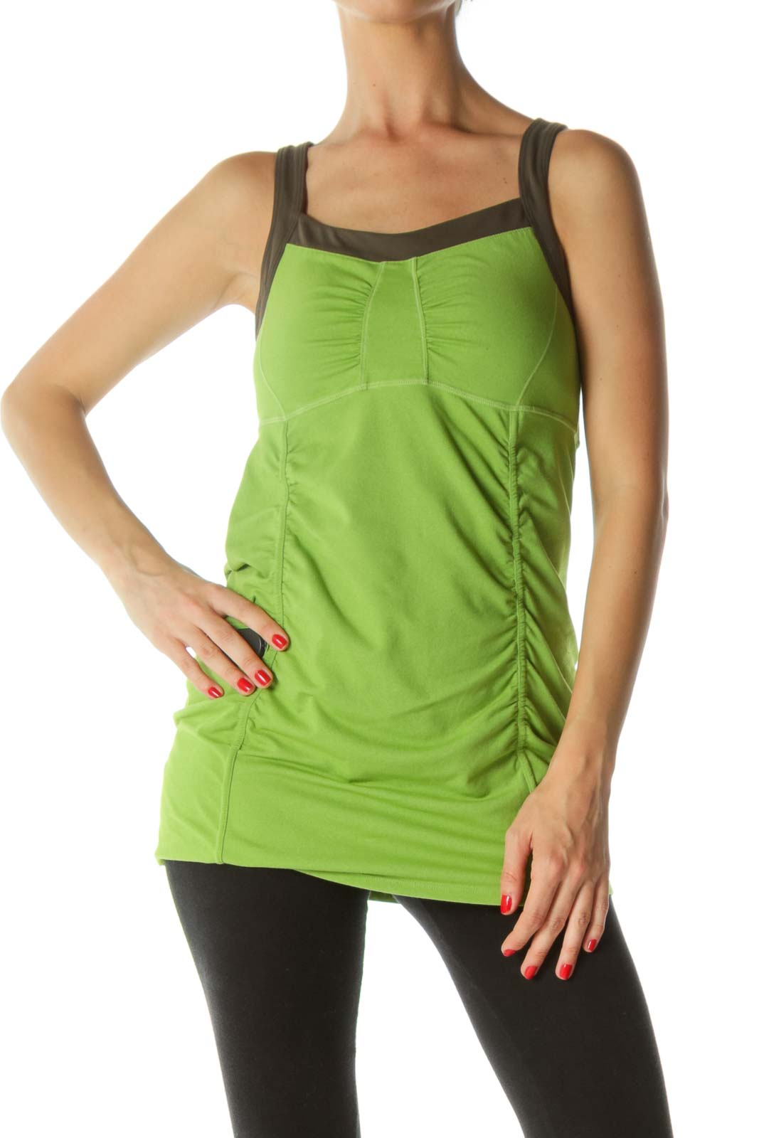 Apple Green Ruched Sporty Top