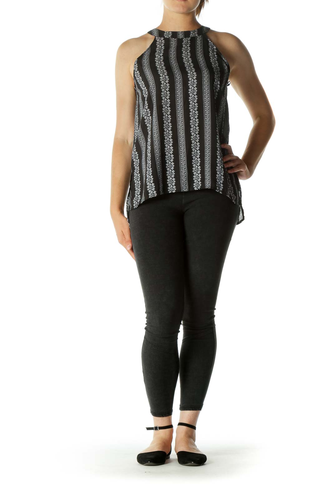 Black&White Patterned Tank Top