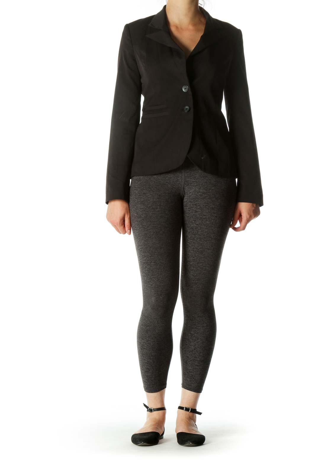 Black Double Buttoned Pocketed Blazer