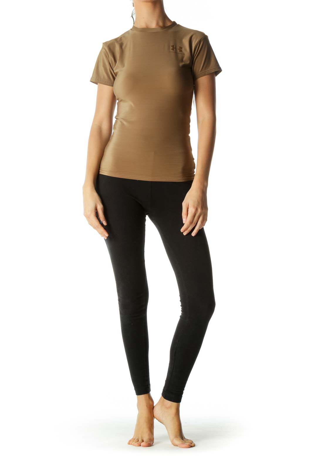 Brown Lightweight Logo Sporty Top