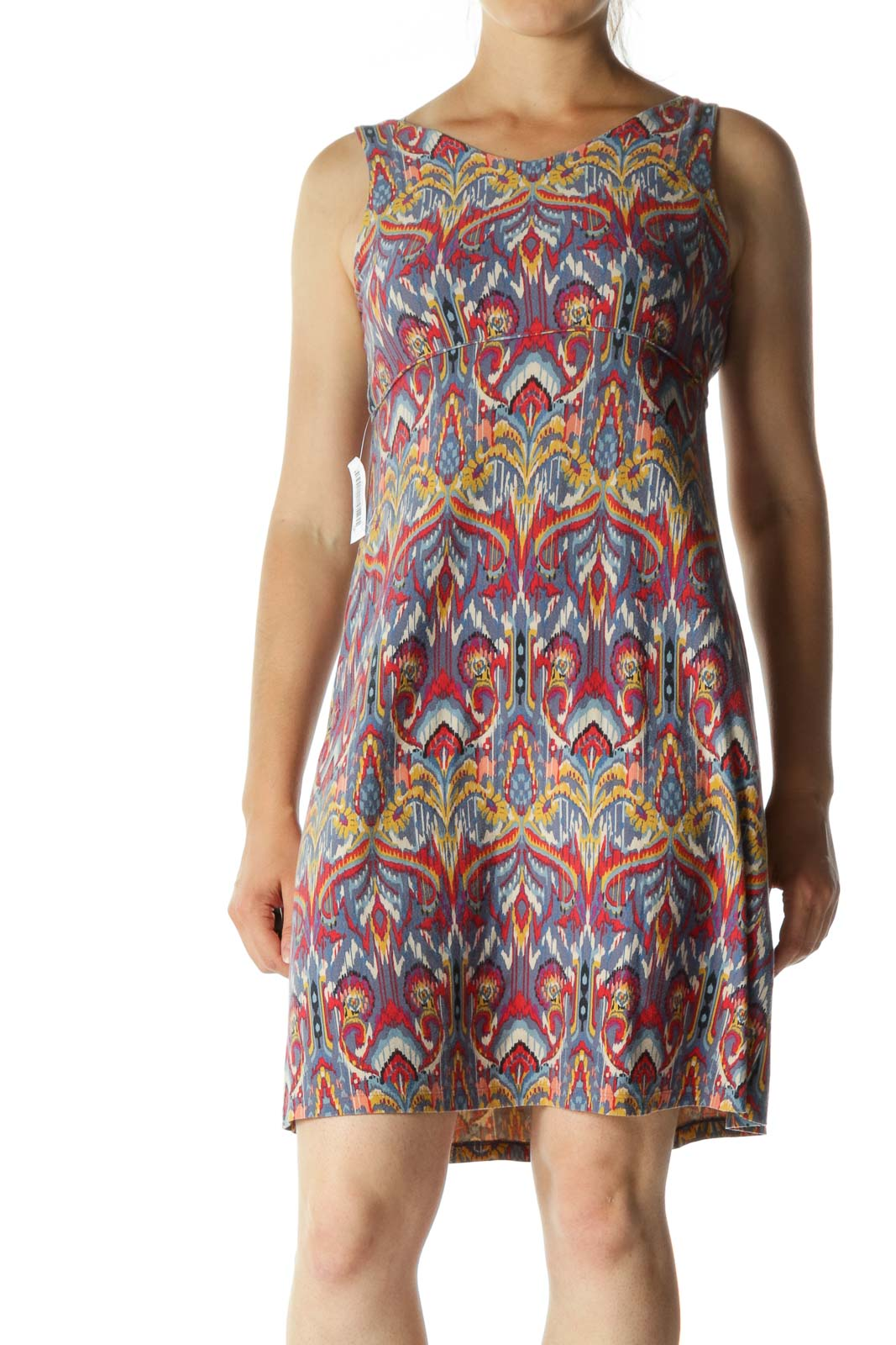 Multicolor V-neck Print Active Dress