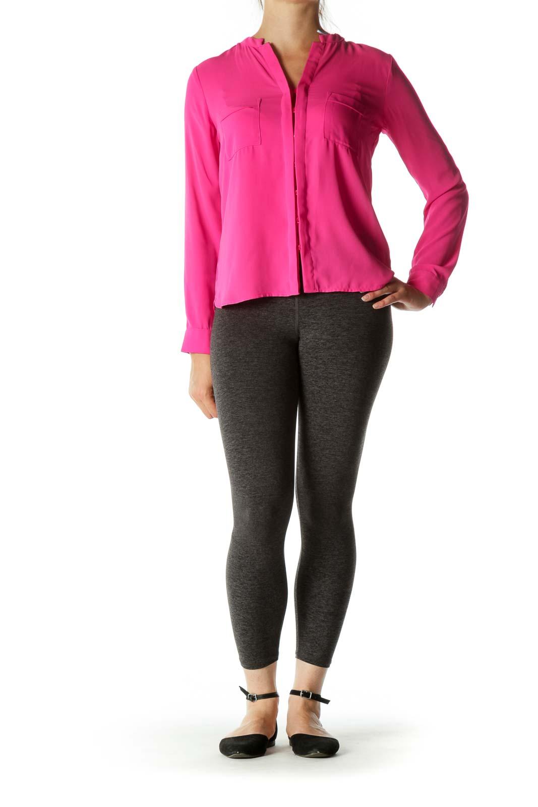Pink Buttoned Long Sleeve Shirt