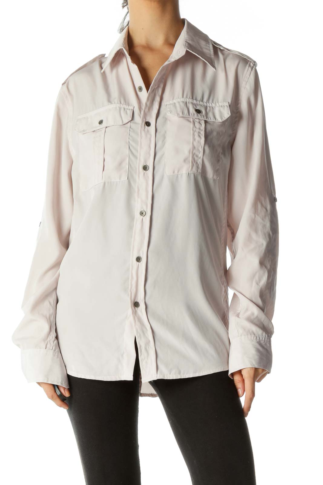 Light Pink Button Down Soft Blouse