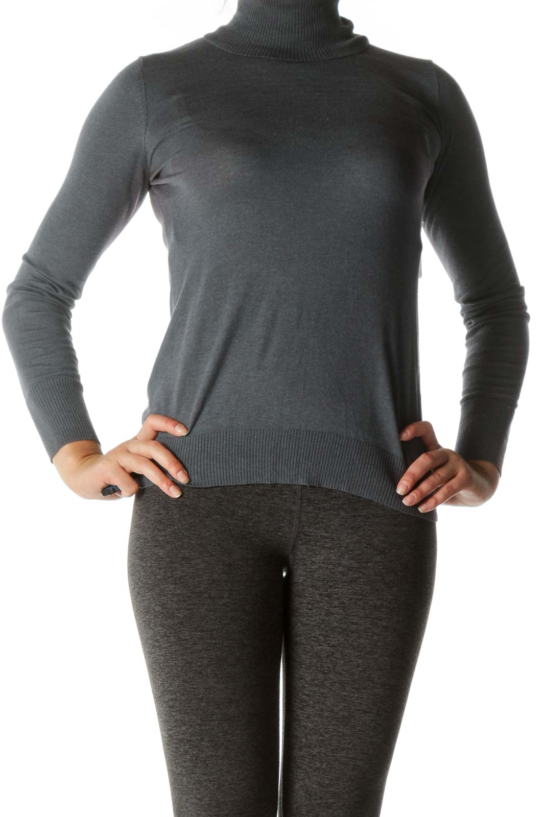 Gray Turtle Neck Top