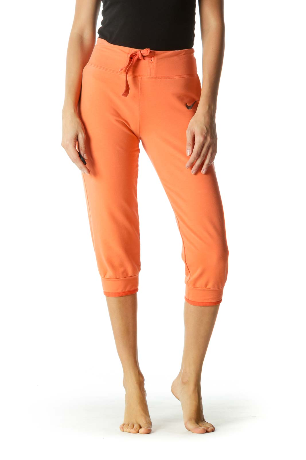 Orange Elastic Band Sport Pants