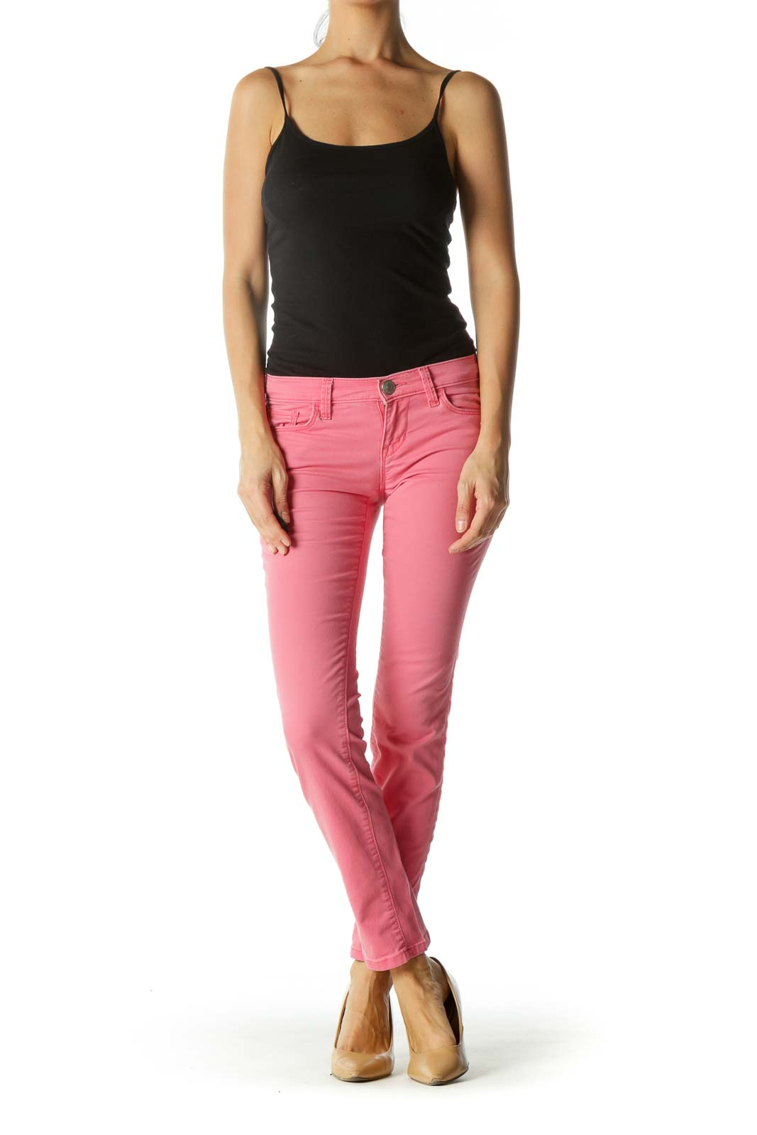 Pink Stretchy Skinny Pants