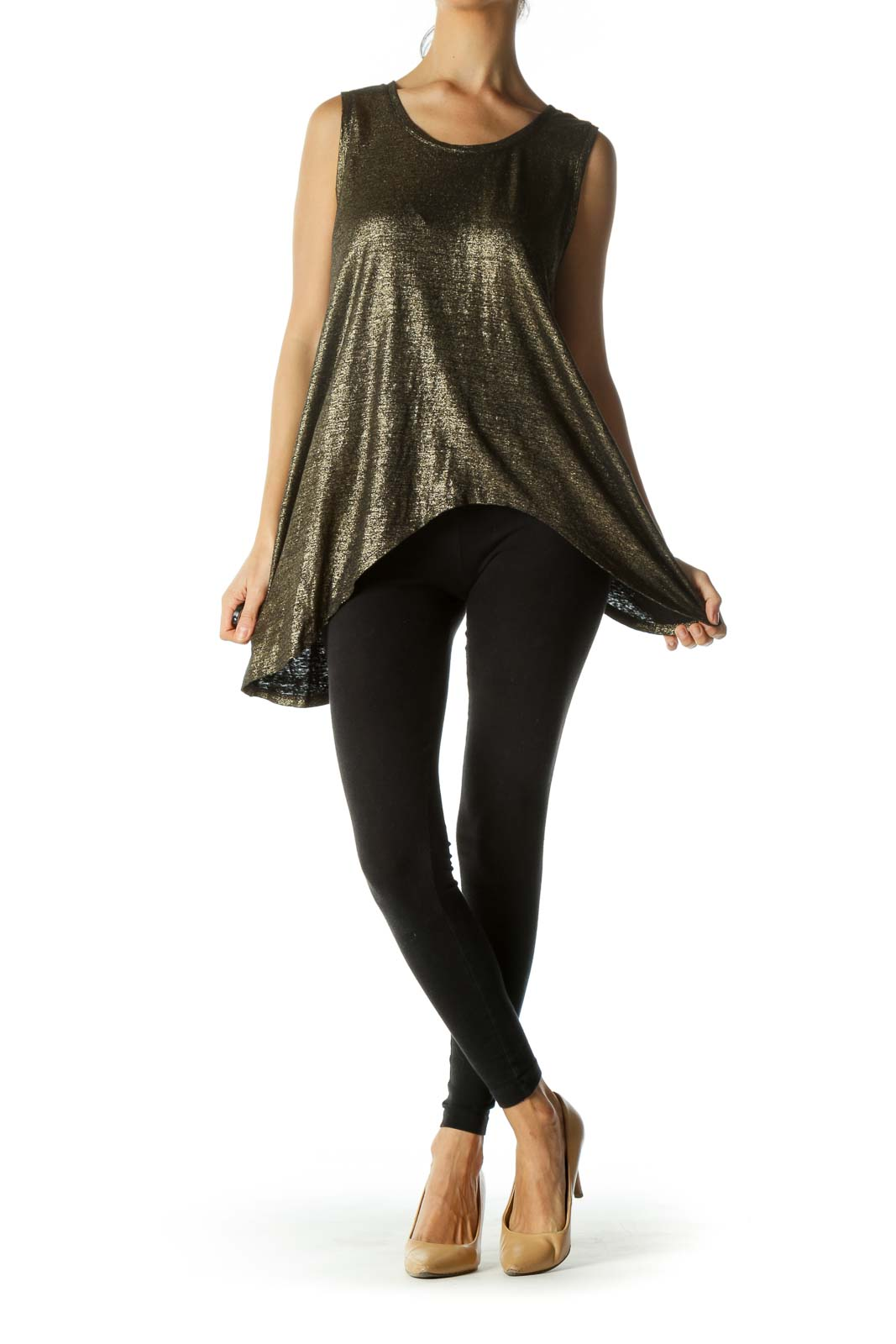 Black Gold 100% Organic Linen Tank Top