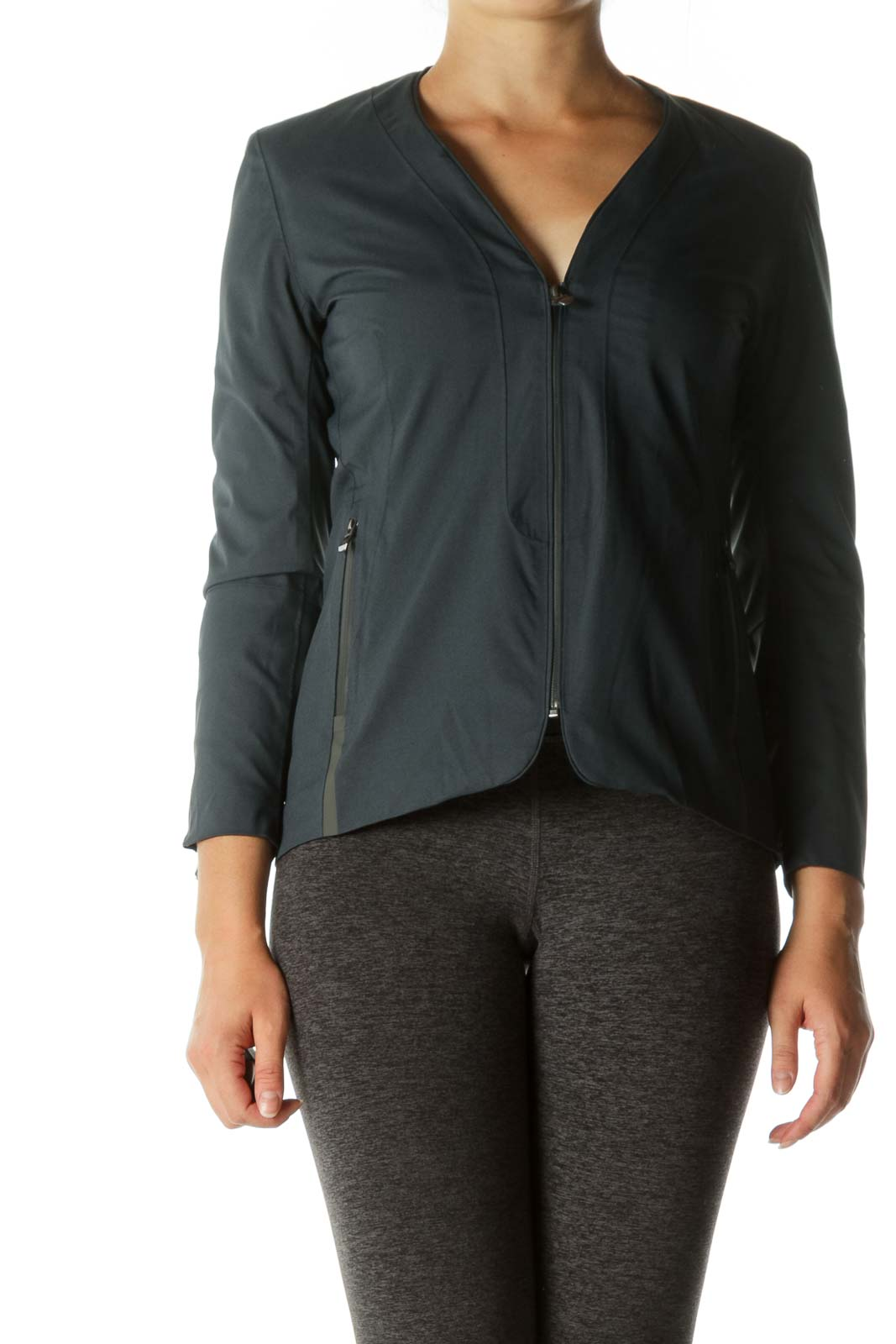 Navy Zippered Lightweight Functional Jacket