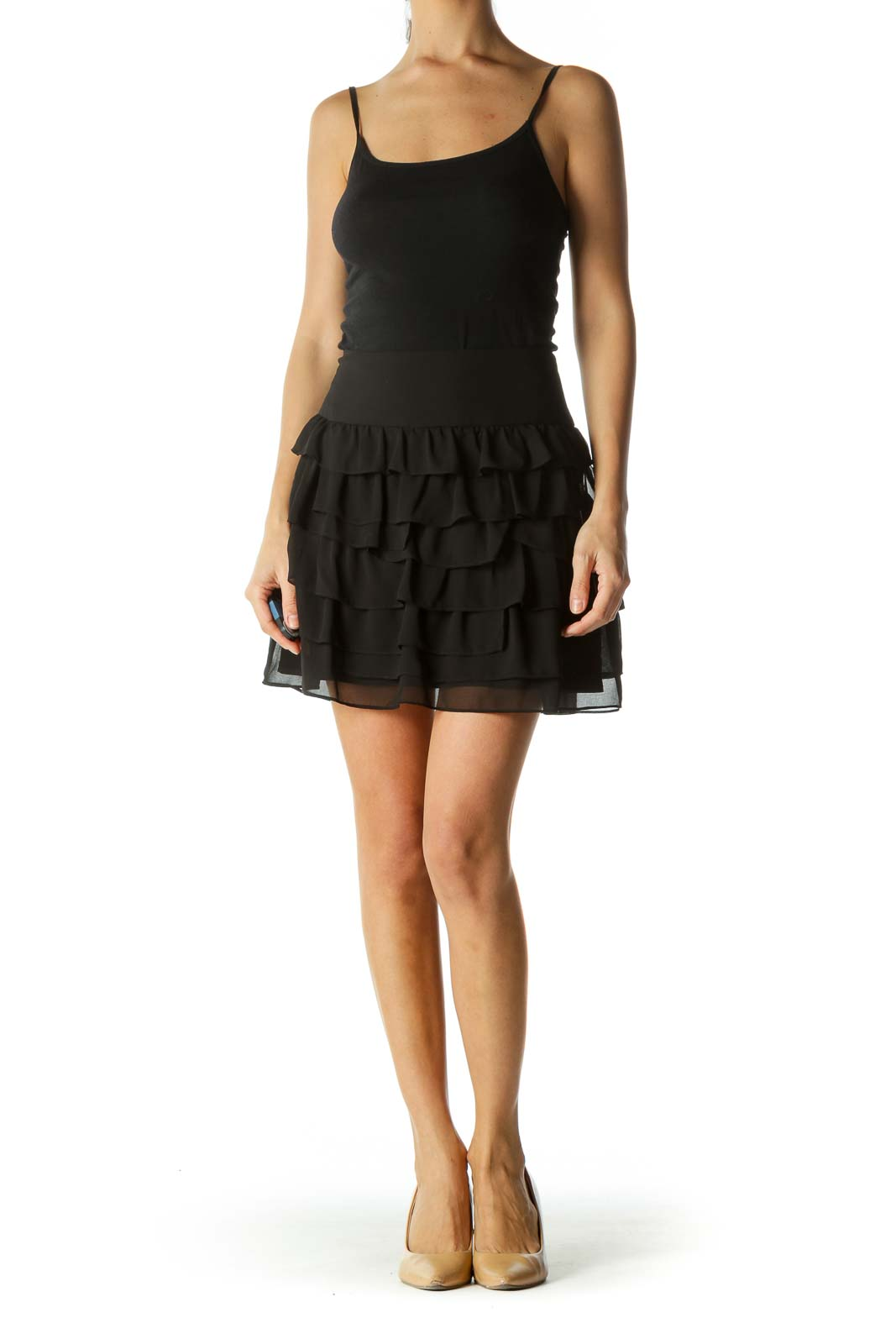 Black Layered MIni Skirt
