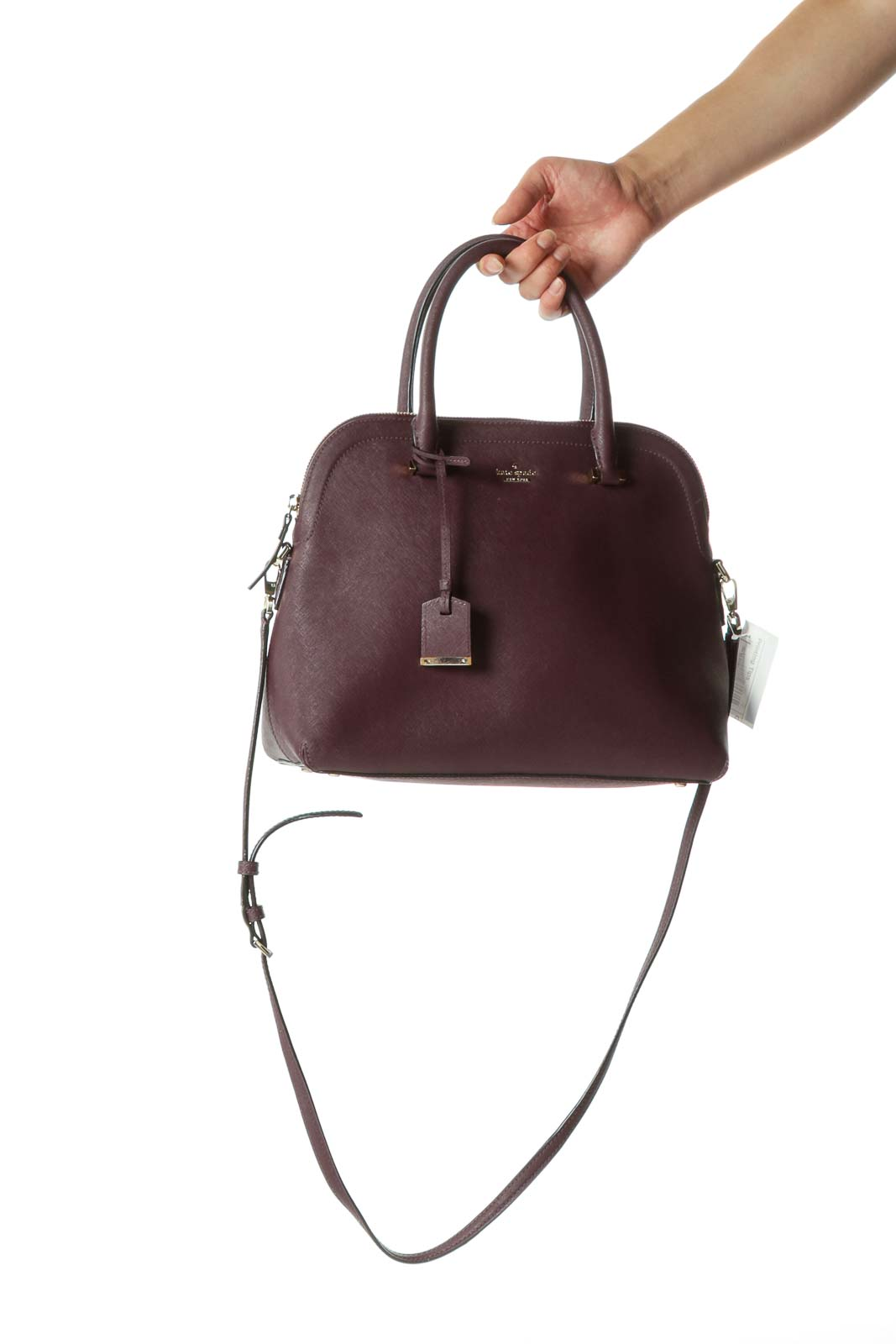 Purple zippered Kate Spade Riley Satchel