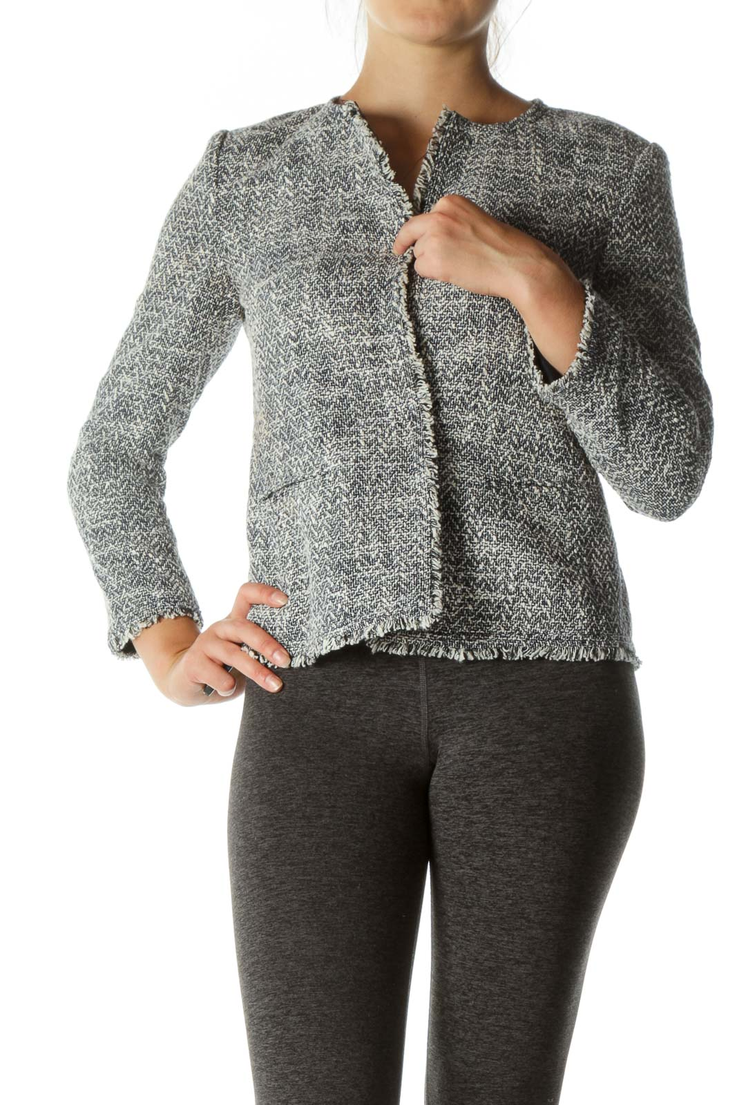 Gray & Navy Tweed Jacket