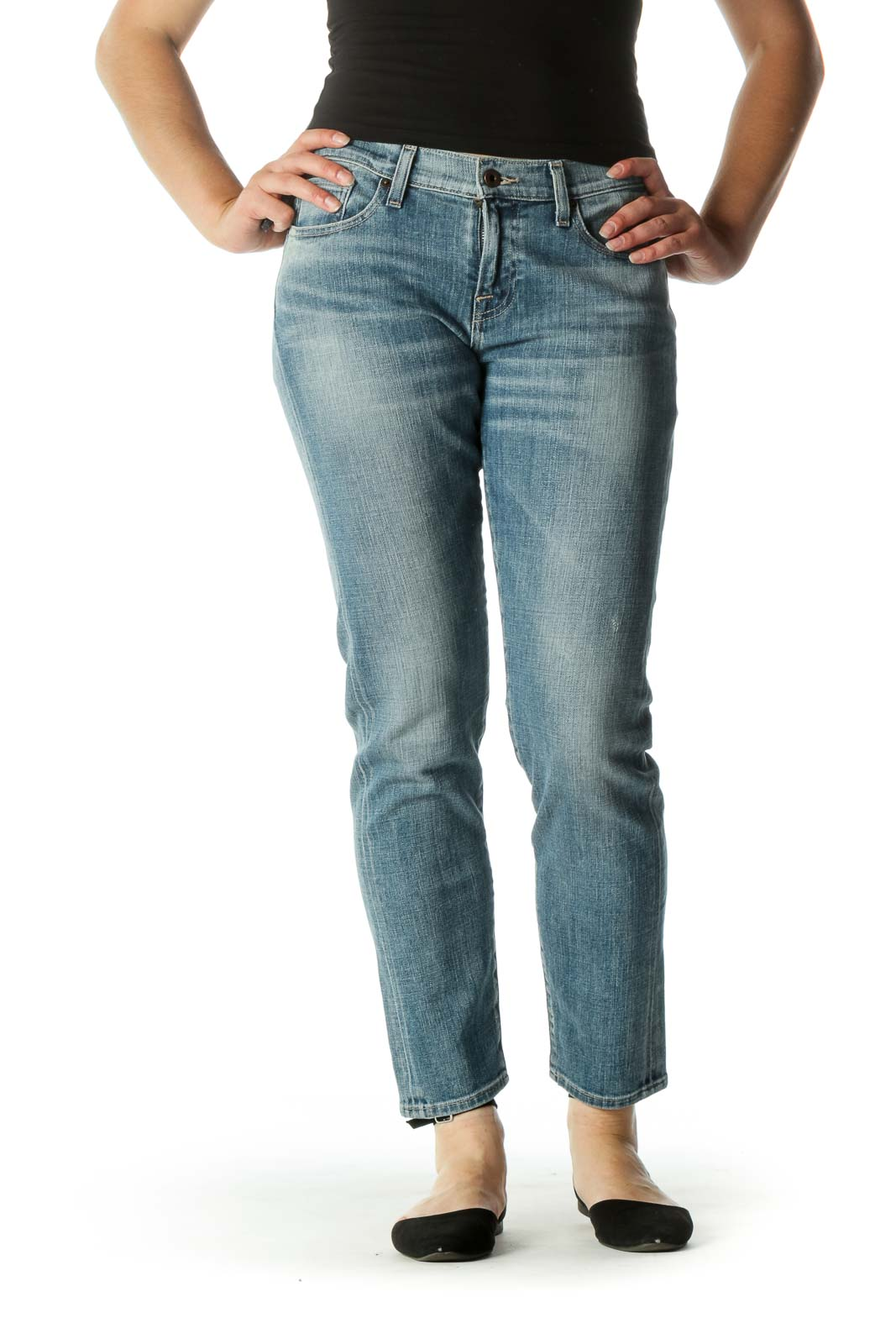 Blue Medium Wash Jeans