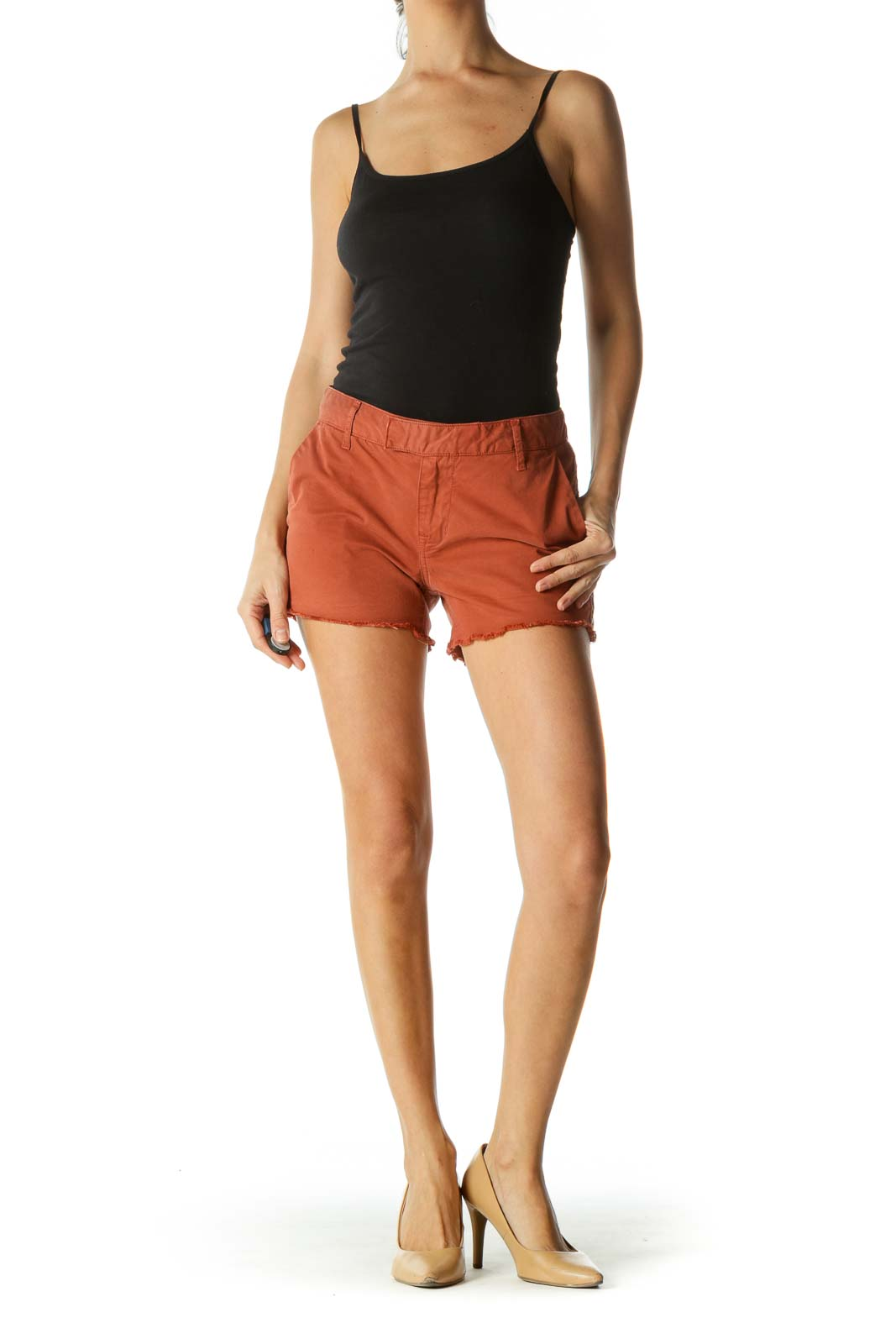 Rusty Red Boho Patterned Shorts