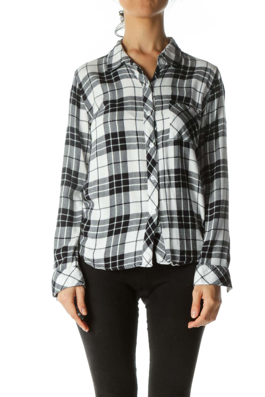 Blue White Plaid Soft Touch Shirt