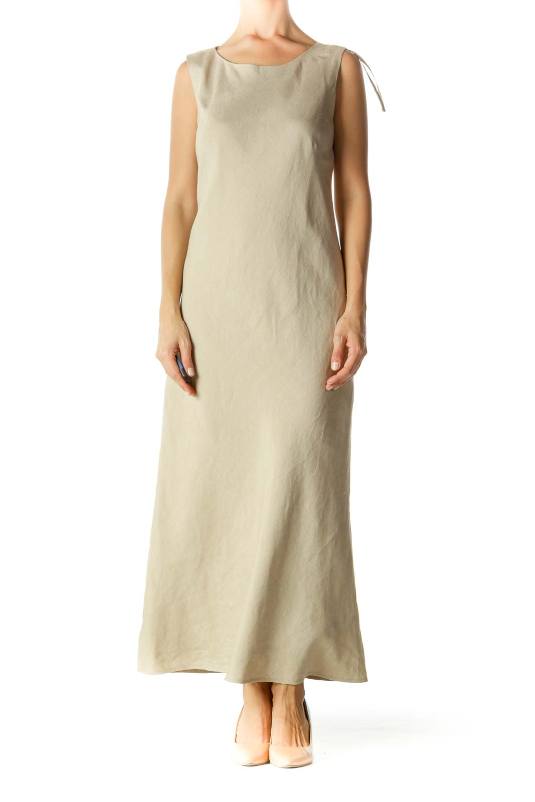 Beige Shift Maxi Dress