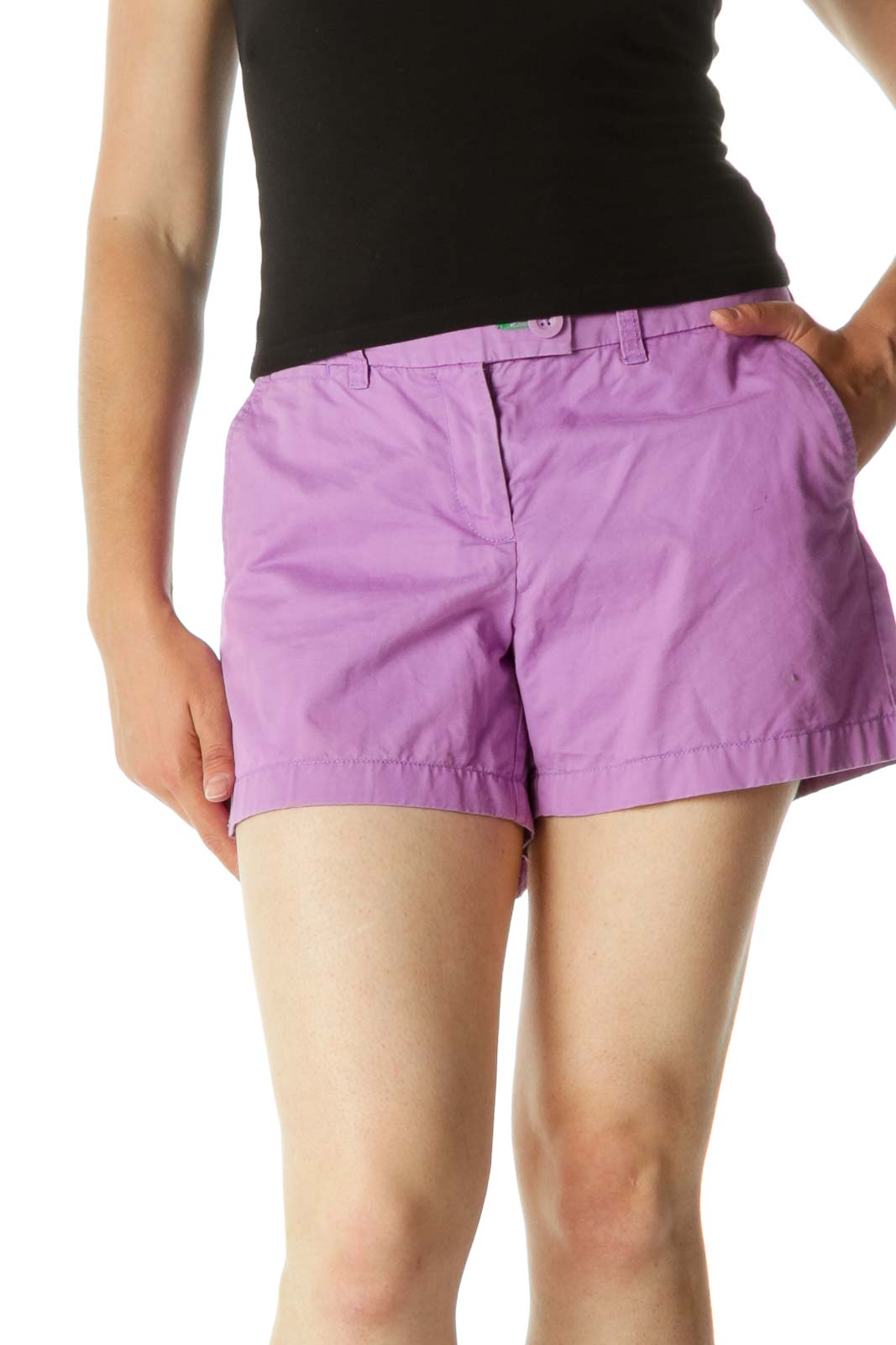 Purple Pocketed Short
