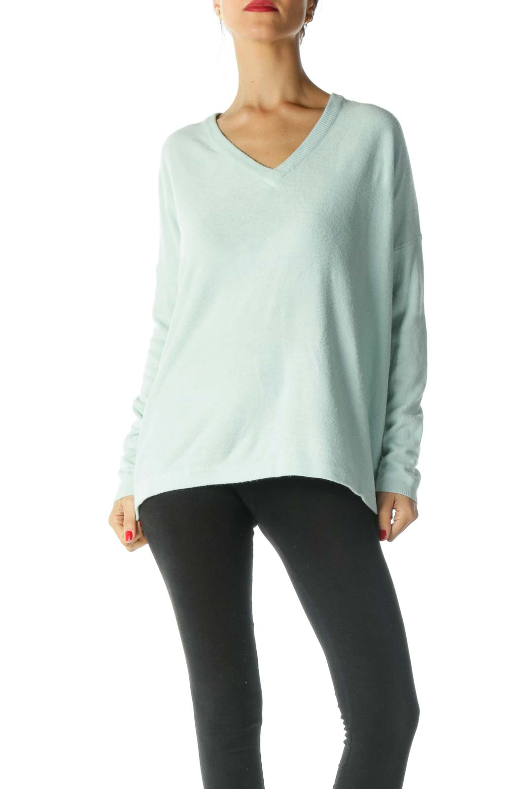 Light Green V Neck Sweater