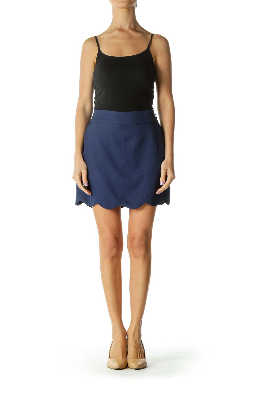 Navy Tennis Skirt with Shorts