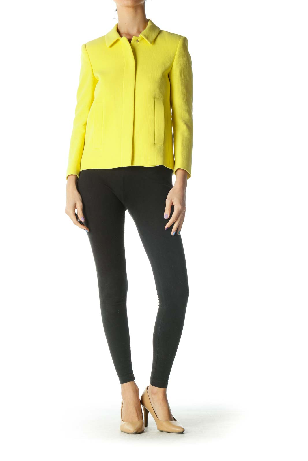 Yellow Structured Jacket