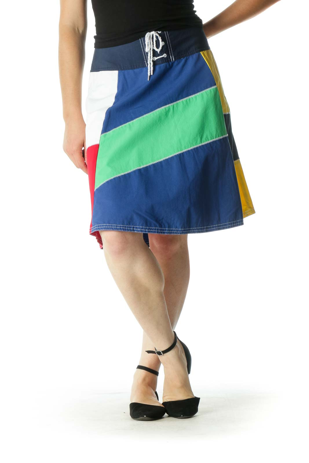 Multicolor A-Line Skirt