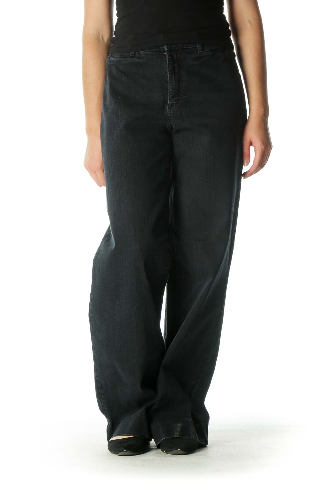 Black Wide-Leg Jeans