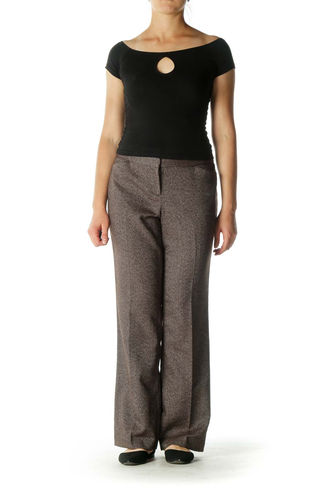 Brown Flared Pants