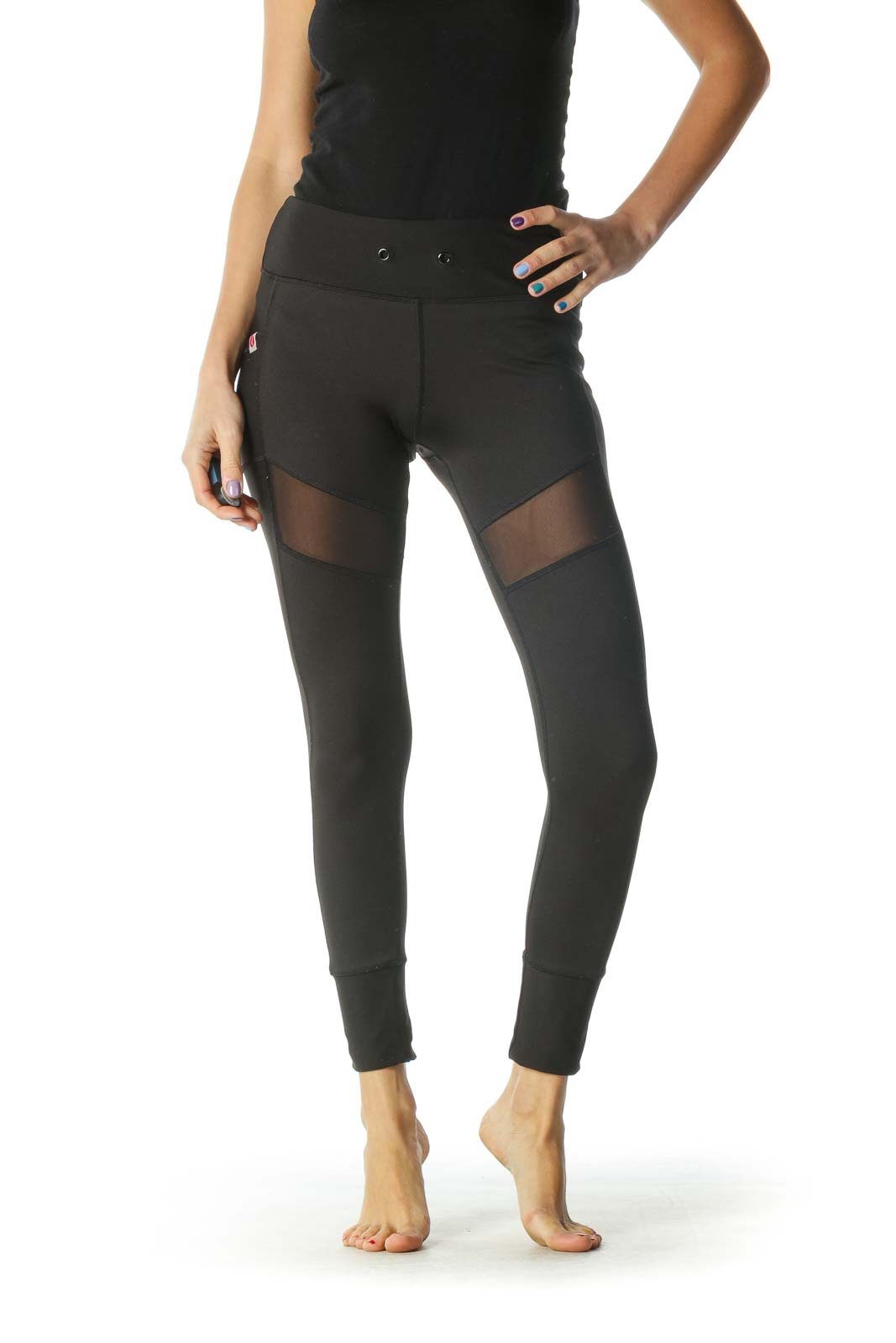 Black Paneled Leggings