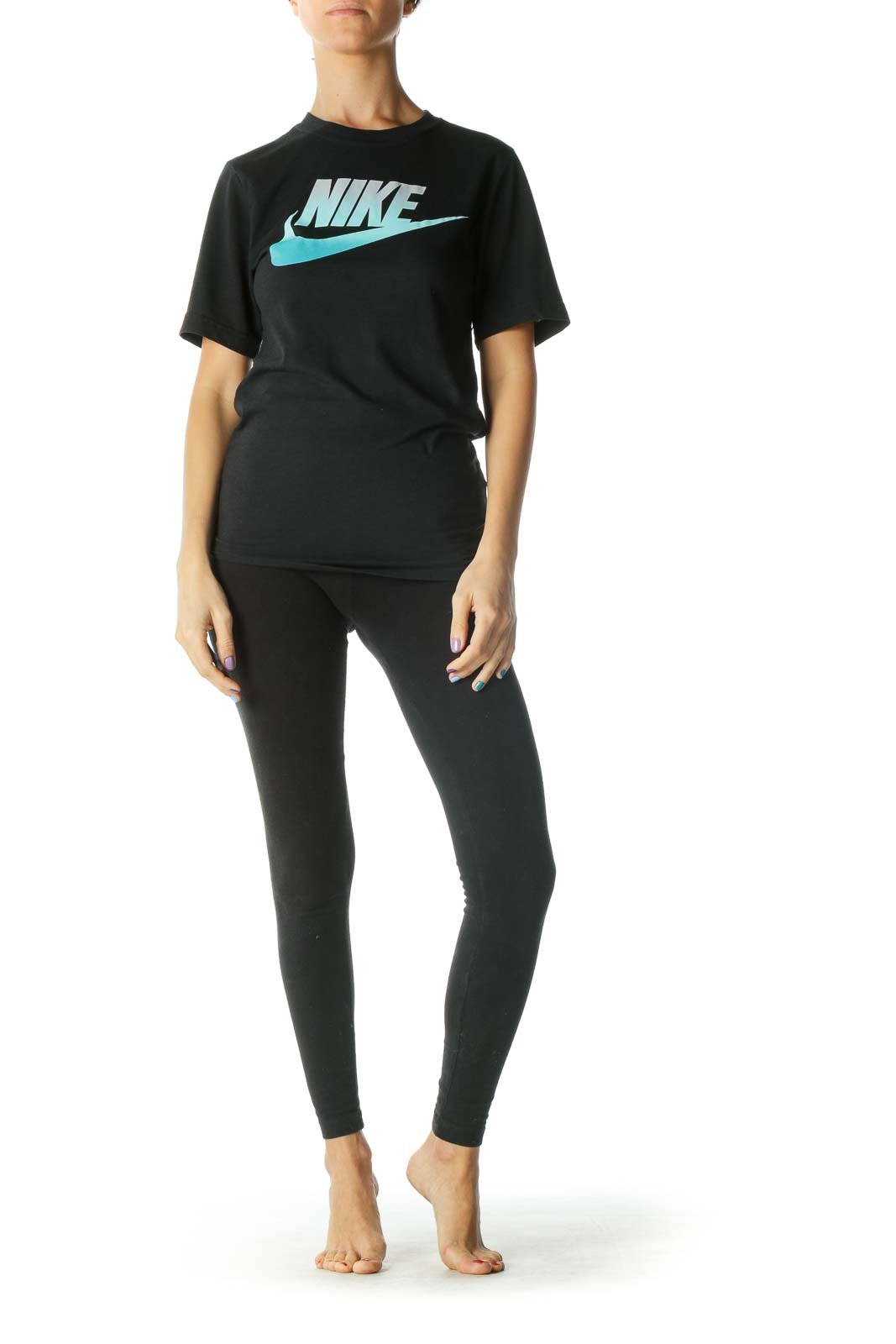 Black Blue Ombre T-Shirt