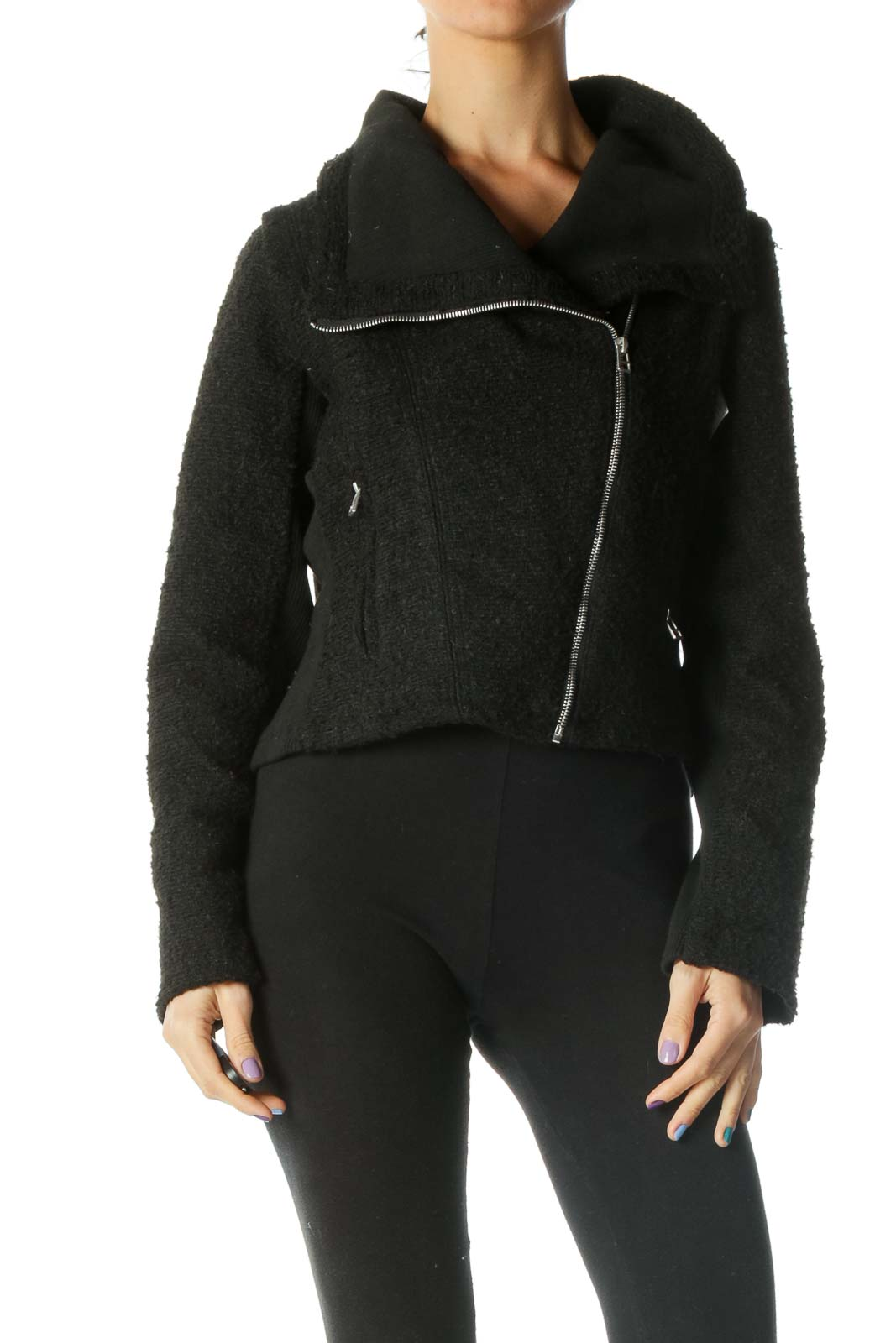 Black Teddy Moto Jacket