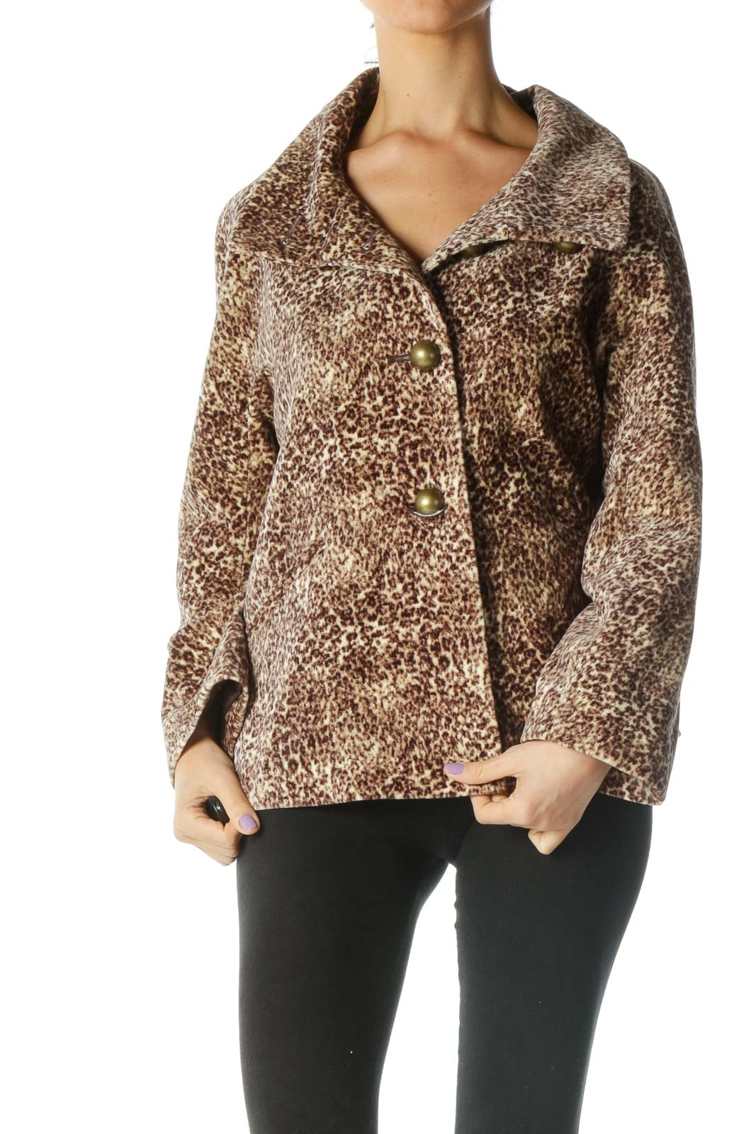 Brown Animal Print Jacket