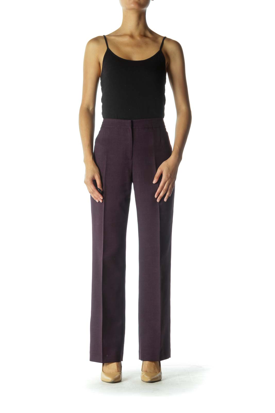 Purple Wide-Leg Pants