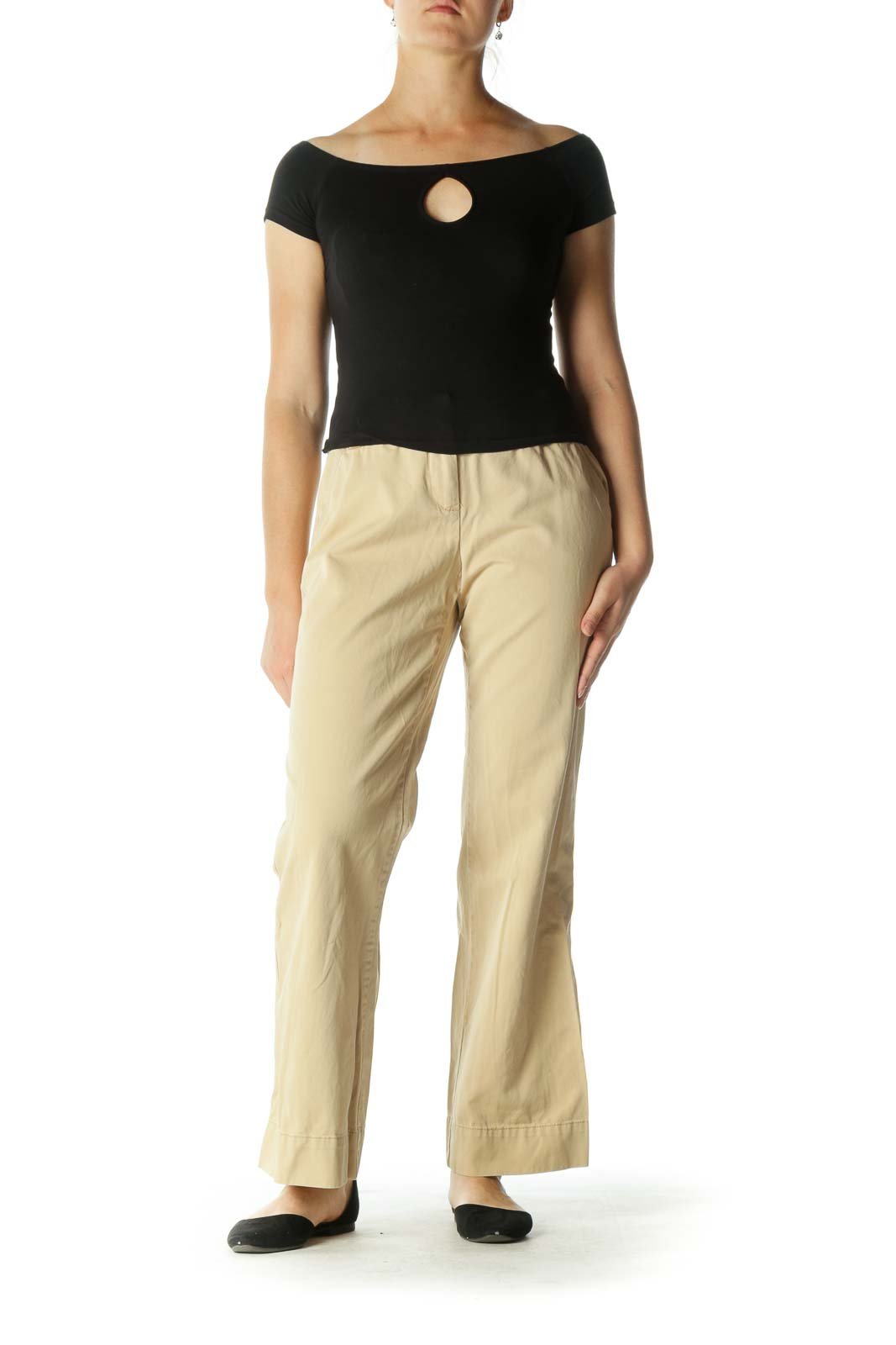 Brown Wide-Leg Pants