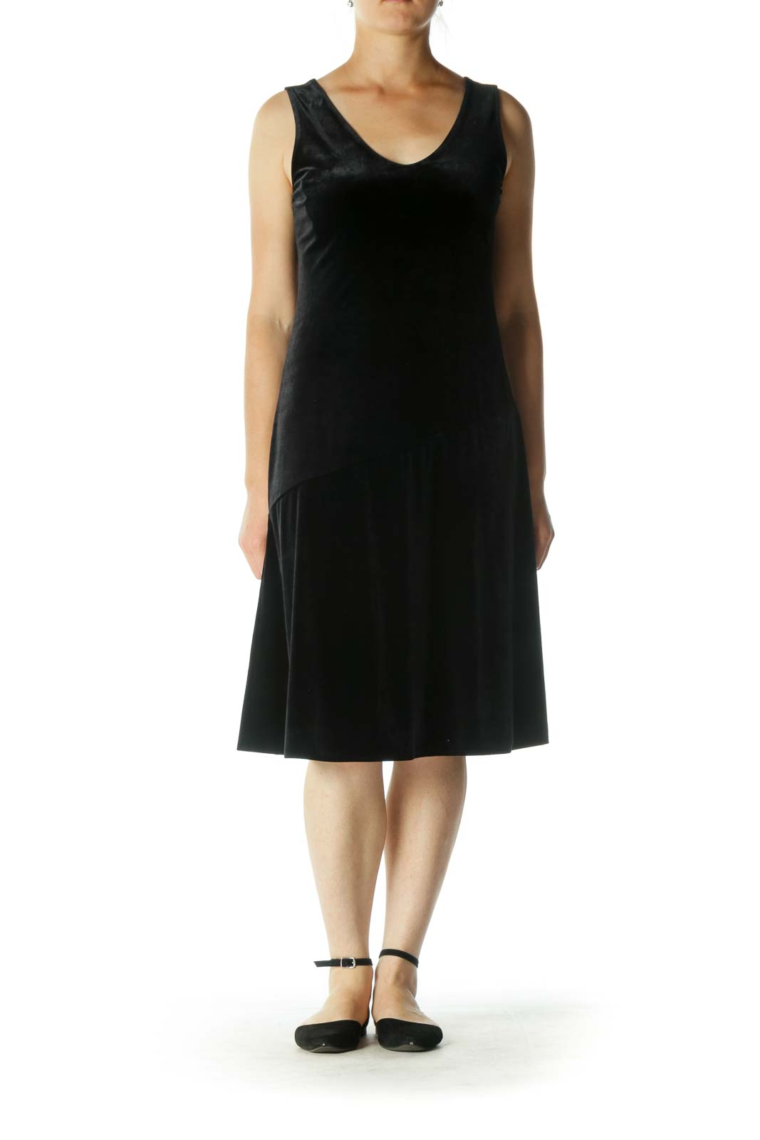 Black Velvet Shift Dress