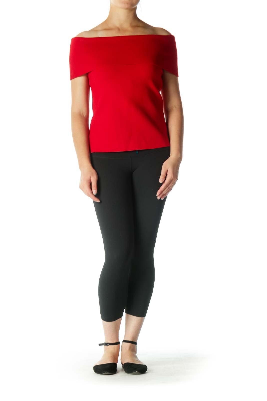 Red Off-Shoulder Top