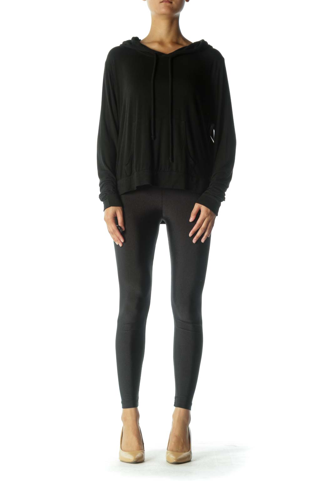 Black Loose Light-Weight Sweatshirt