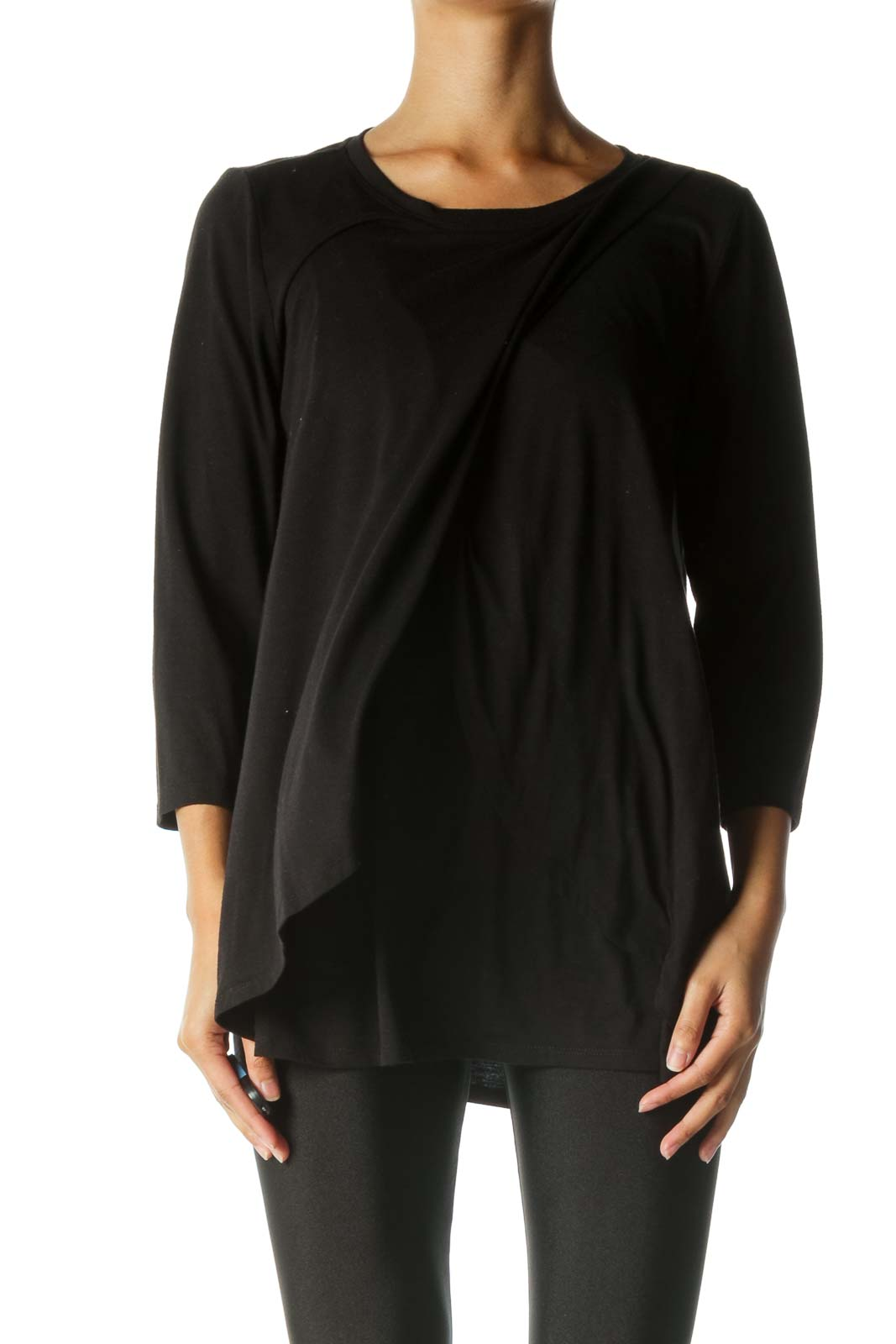 Black Nursing Long Sleeve Shirt