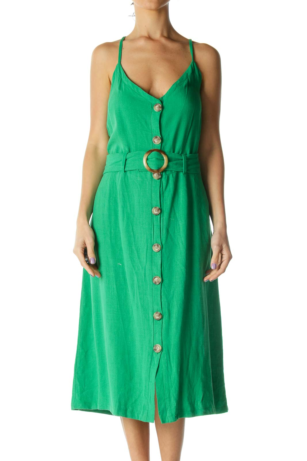 Green Midi Day Dress