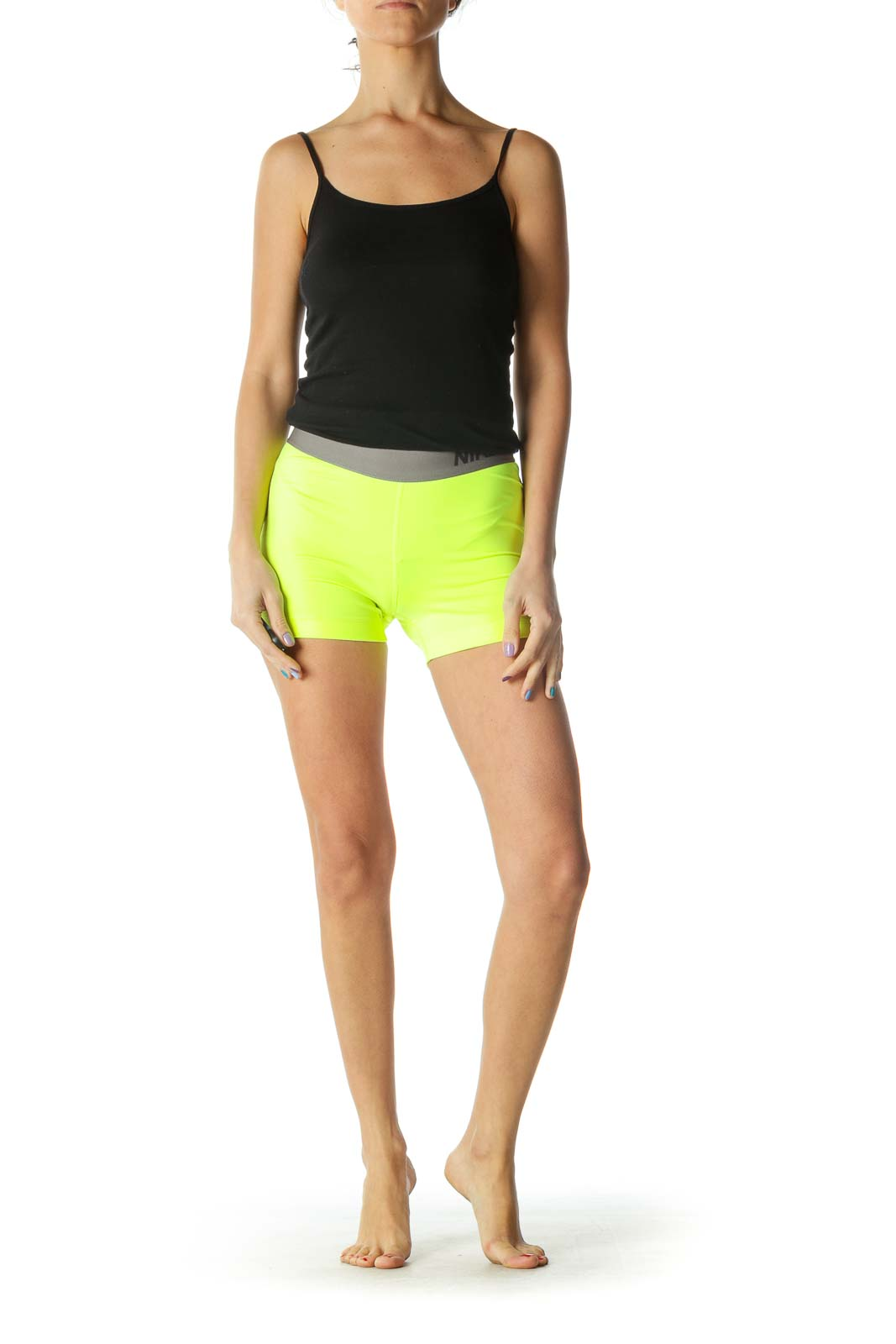 Yellow Neon Sports Shorts