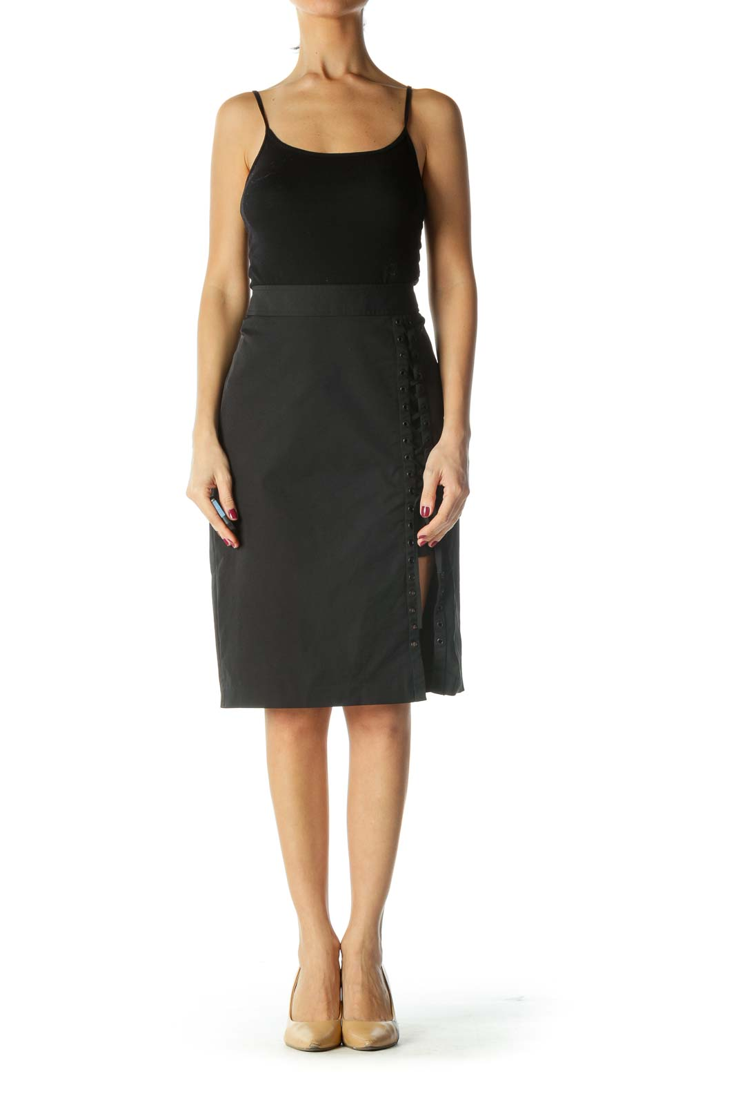 Black Corset Pencil Skirt