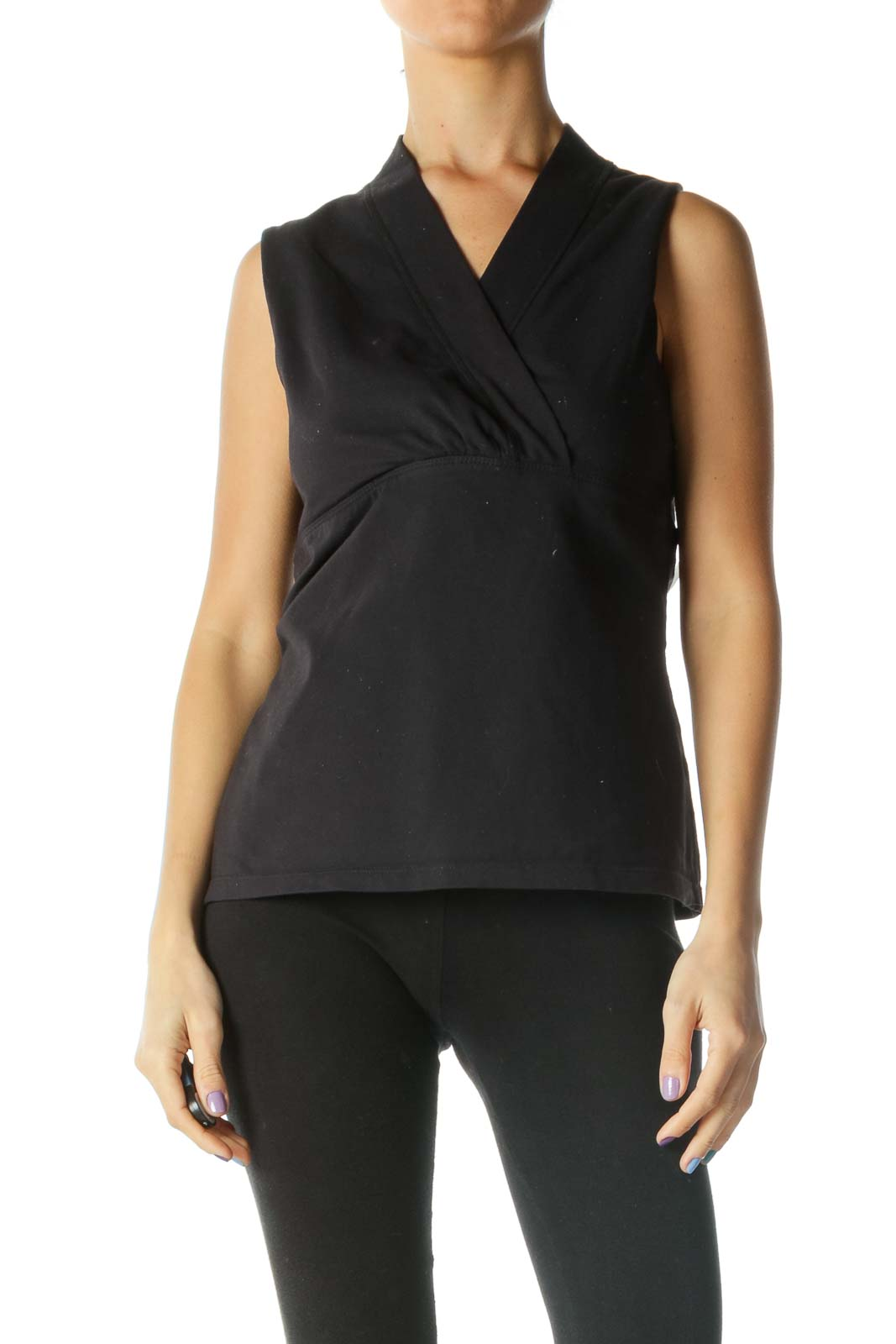 Black Sleeveless Yoga Top