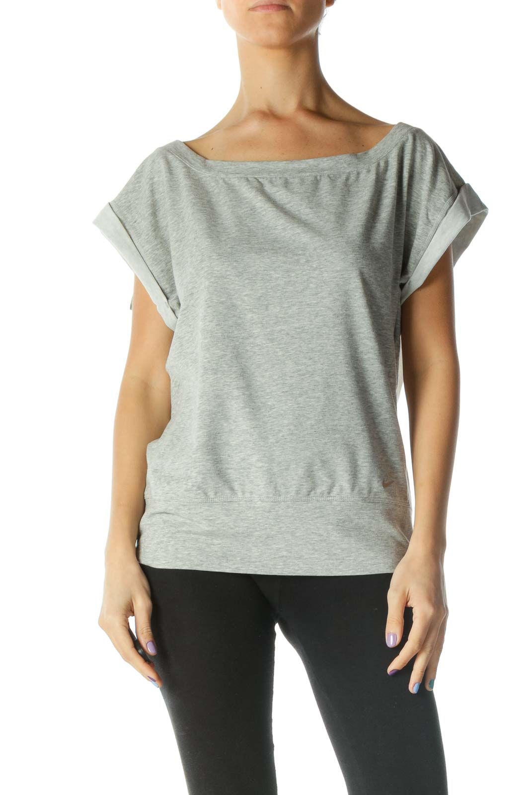 Gray Mesh Back T-Shirt